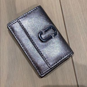 Marc Jacobs silver trifold wallet